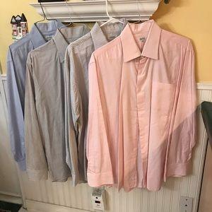 Barneys New York Lot of 4 Dress Shirts 17 L